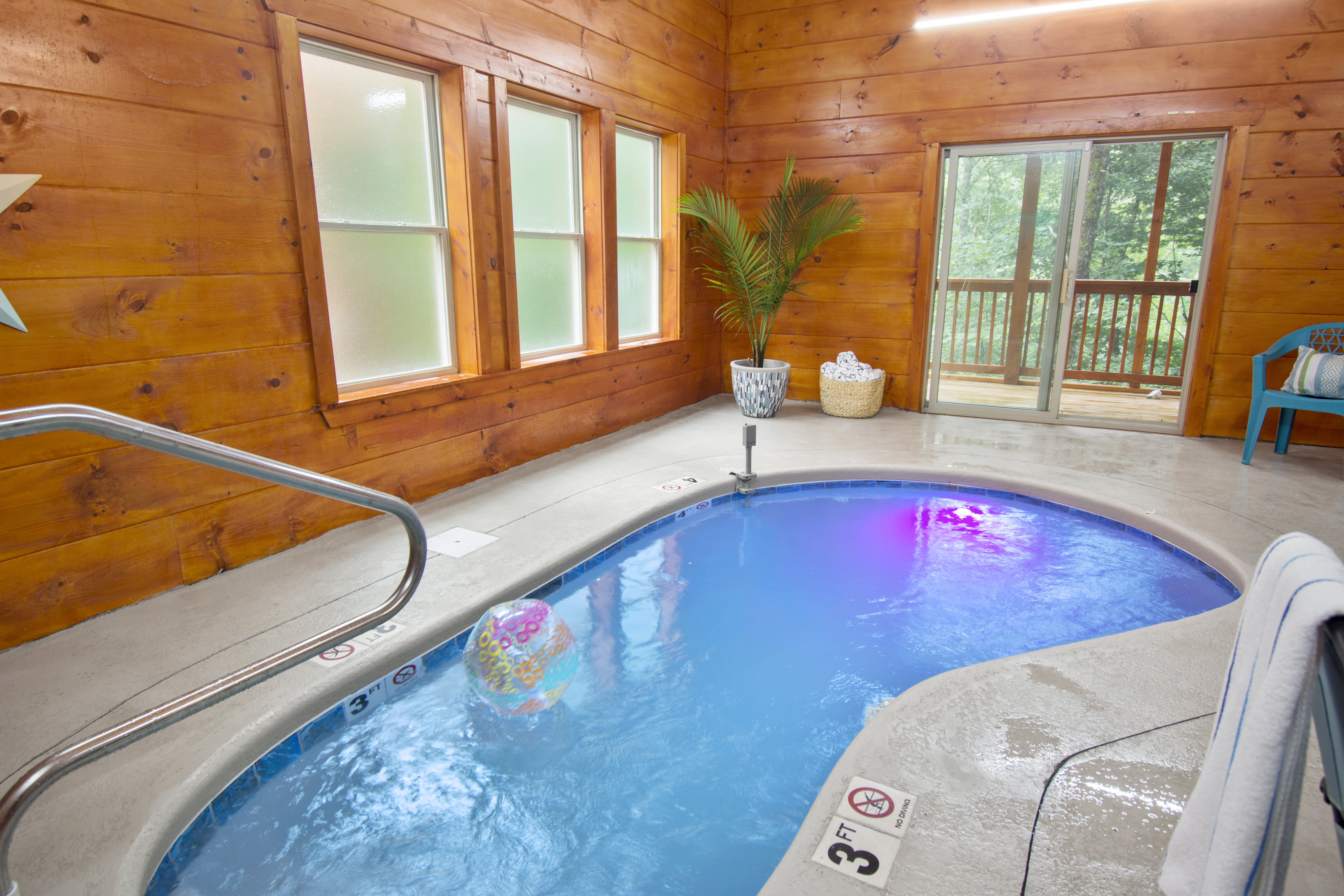 Private Pool at our Stay Minty Cabins for your Smoky Mountains trip.