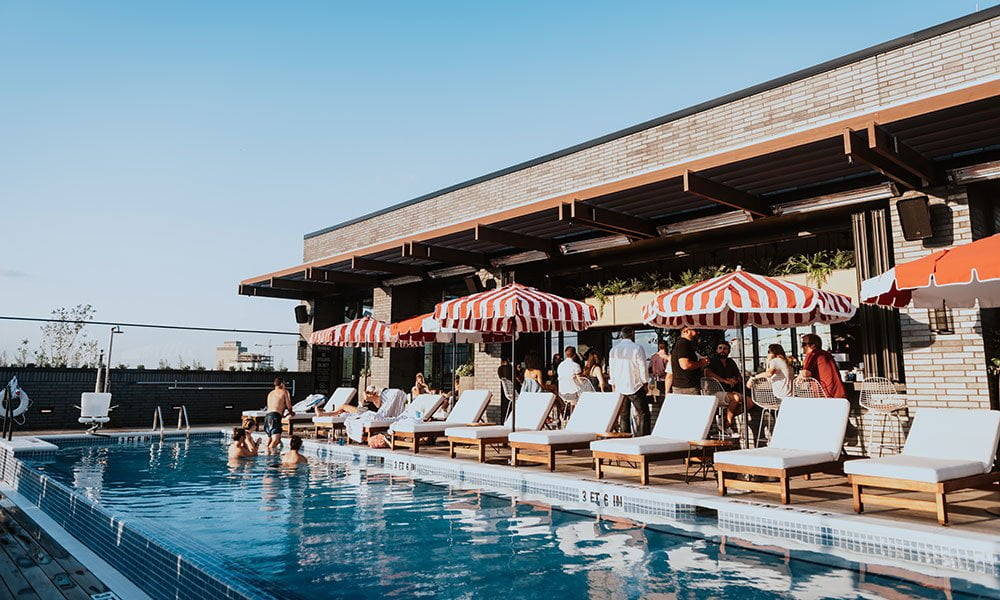 The Pool Club, Pool at Virgin Hotels Nashville, things to do on your birthday in Nashville